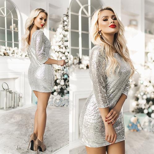 Блестящее платье Арт.641