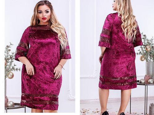 Мерцающее платье из бархата Арт.660