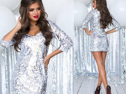 Блестящее платье Арт.634