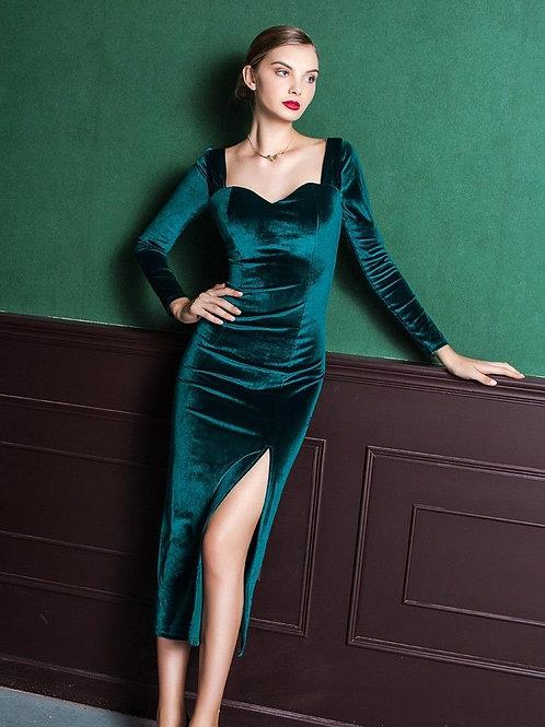 Мерцающее платье из бархата Арт.672