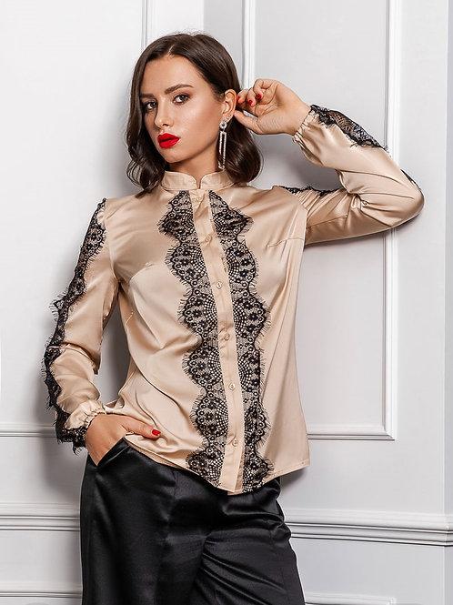 Легкая шелковая блуза