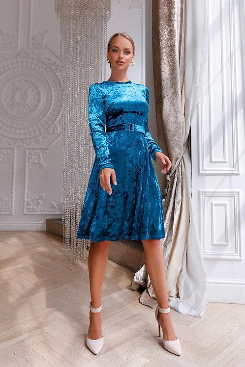 Изящное бархатное платье Арт.533
