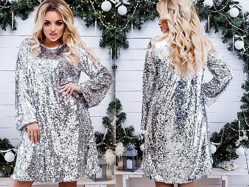 Блестящее платье Арт.677