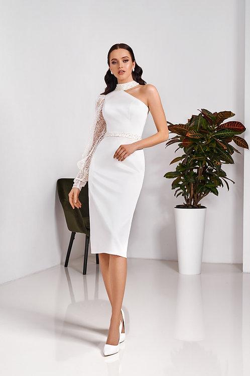 Свадебное платье-футляр длины миди Арт. 070