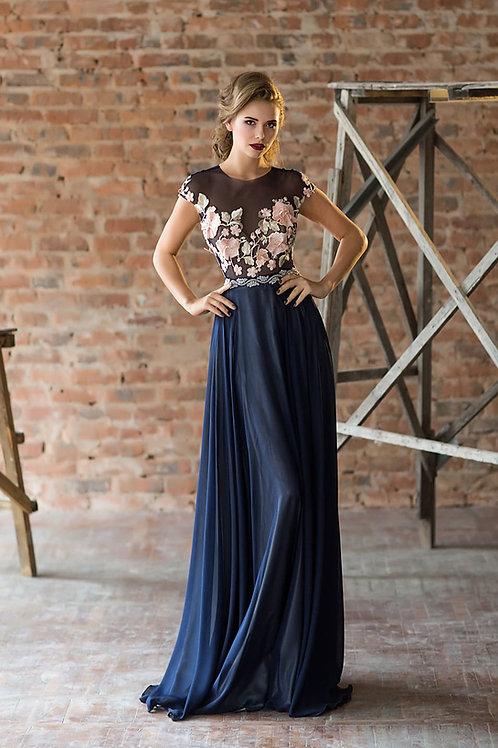 Вечернее платье из premium класса из шелка Арт.507