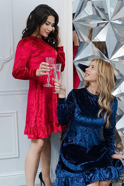 Изящное бархатное платье Арт.535