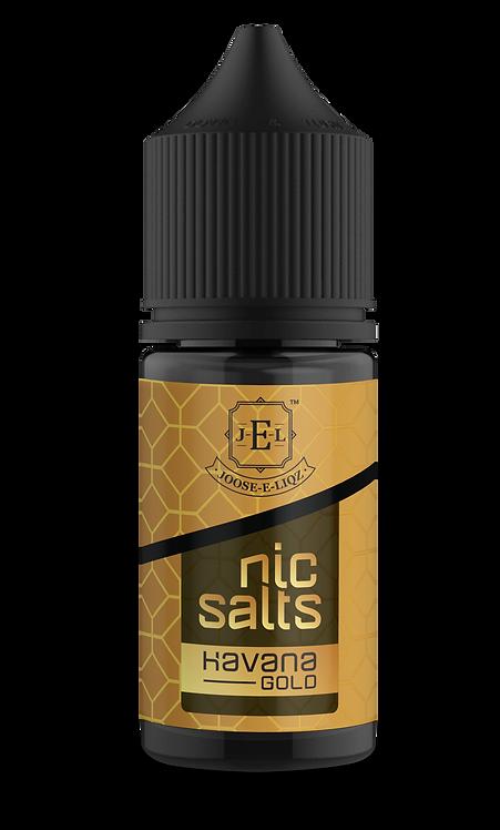 JEL Havana Gold Nic Salts 30ml 20mg