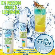 Freeze Vapes Icy Passionfruit & Lemonade 120ml 3mg