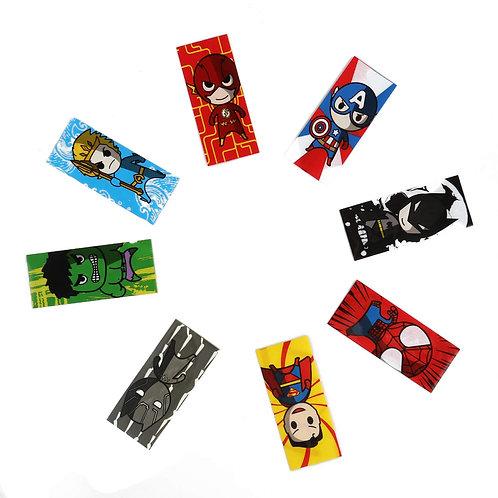Cartoon Super Hero Battery Wraps 18650 Assorted