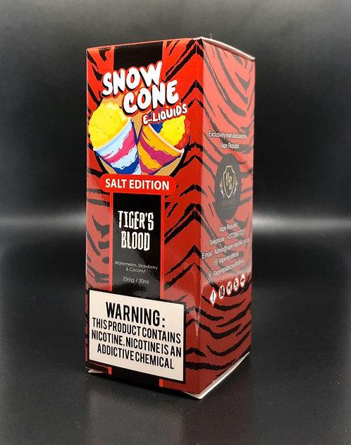 8 Ball Snow Cone Tigers Blood Nic Salts 25mg