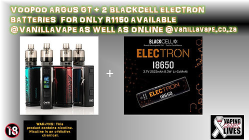 Voopoo Argus GT + 2 Blackcell Electron Batteries
