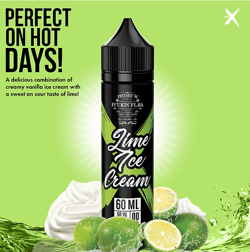 Fcukin Flava 60ml Lime Ice Cream 3mg