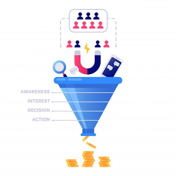 funnel-sales-marketing-infographic-sale-