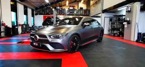 Mercedes wrap 3M satin dark grey