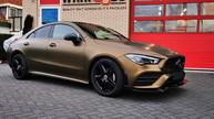 Mercedes CLA Matte Bond Gold Wrap