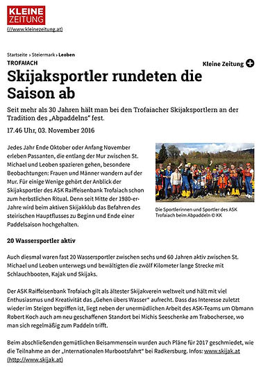 2016 Kleinezeitung Skijaksportler rundet