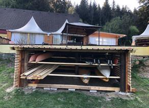 Fertigstellung des neuen Skijaklagers am Trabochersee