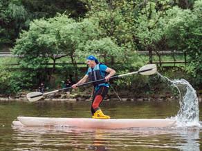 Eröffnung der Skijaksaison am See