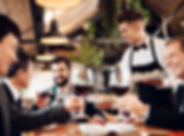 waiter-serves-drinks-food-chinese-busine