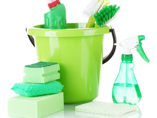 Green cleaning products.