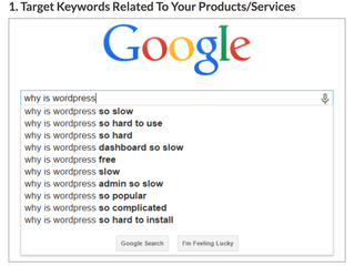 Target Keywords Related To Your Product / Services.