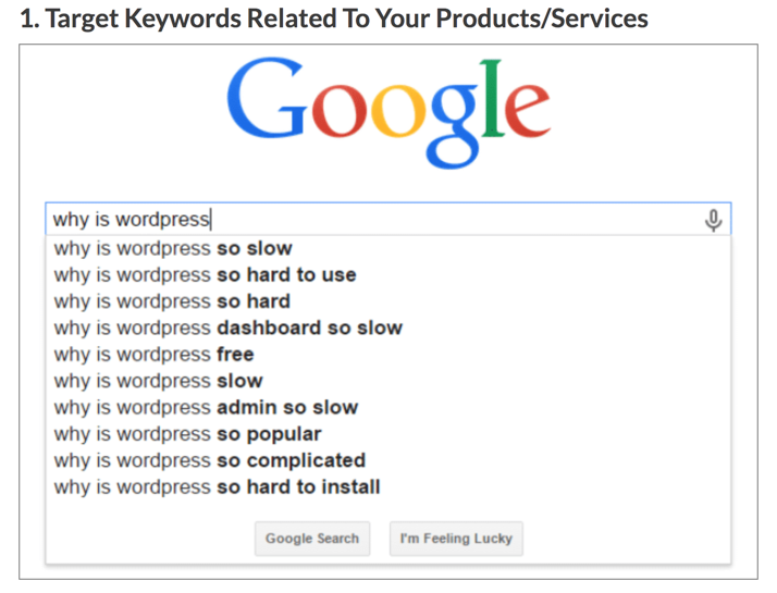 Keyword related products