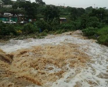 The Umfolozi in the rainy season
