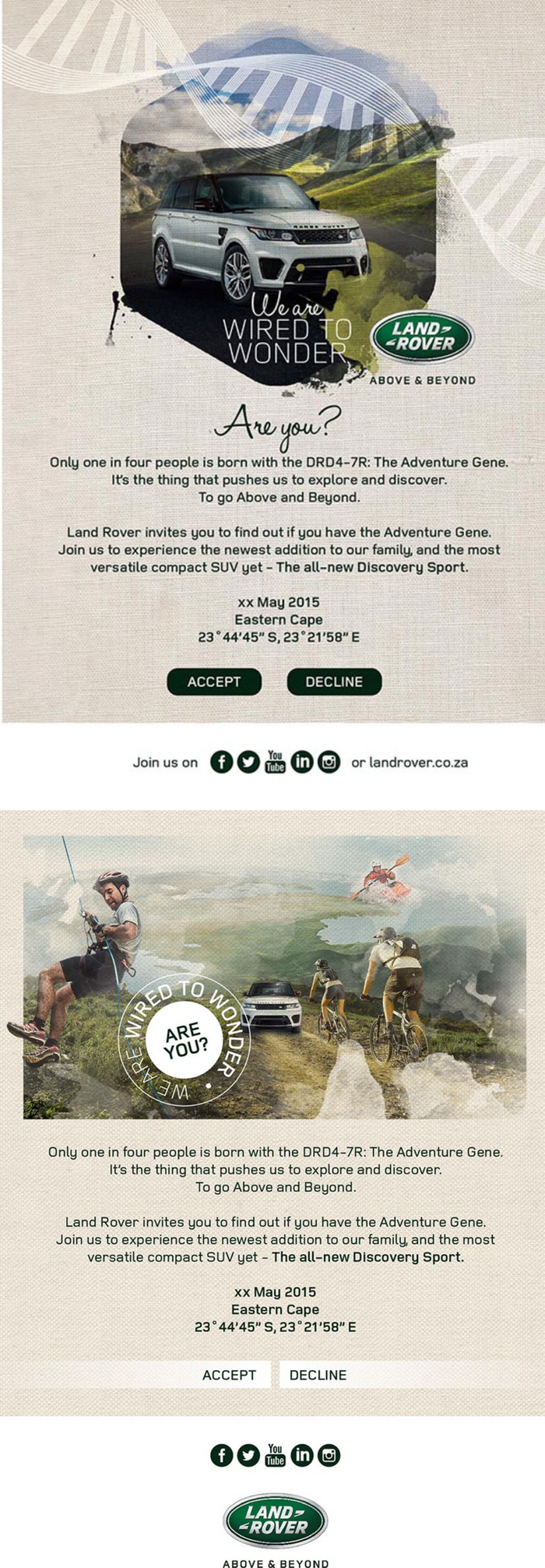Land Rover Email