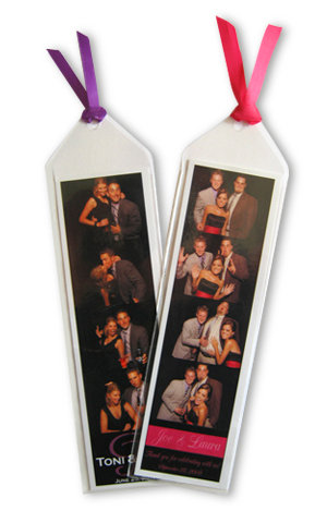 bookmark with ribbon for photo strips