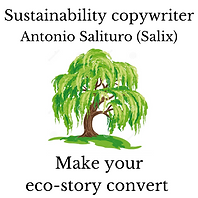 Sustainability copywriter logo
