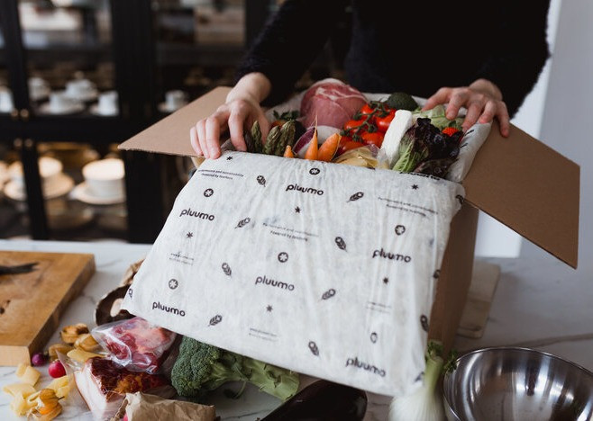 Pluumo packaging made from waste feather