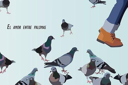 love between doves Emy Sato illustration @ilustreemy
