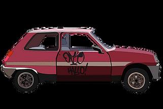 German car illustration in Berlin. Emy Sato illustration @ilustreemy