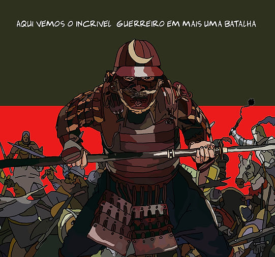 japanese warrior illustration. Emy Sato illustration @ilustreemy