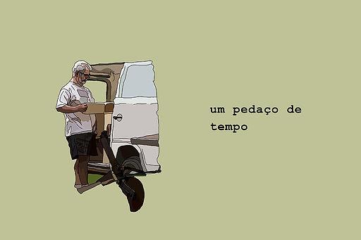 man making over a furgo to travel illustration. emy sato illustration @ilustreemy