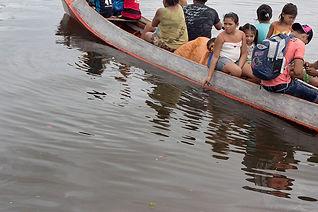 people in a boat in Xingu River