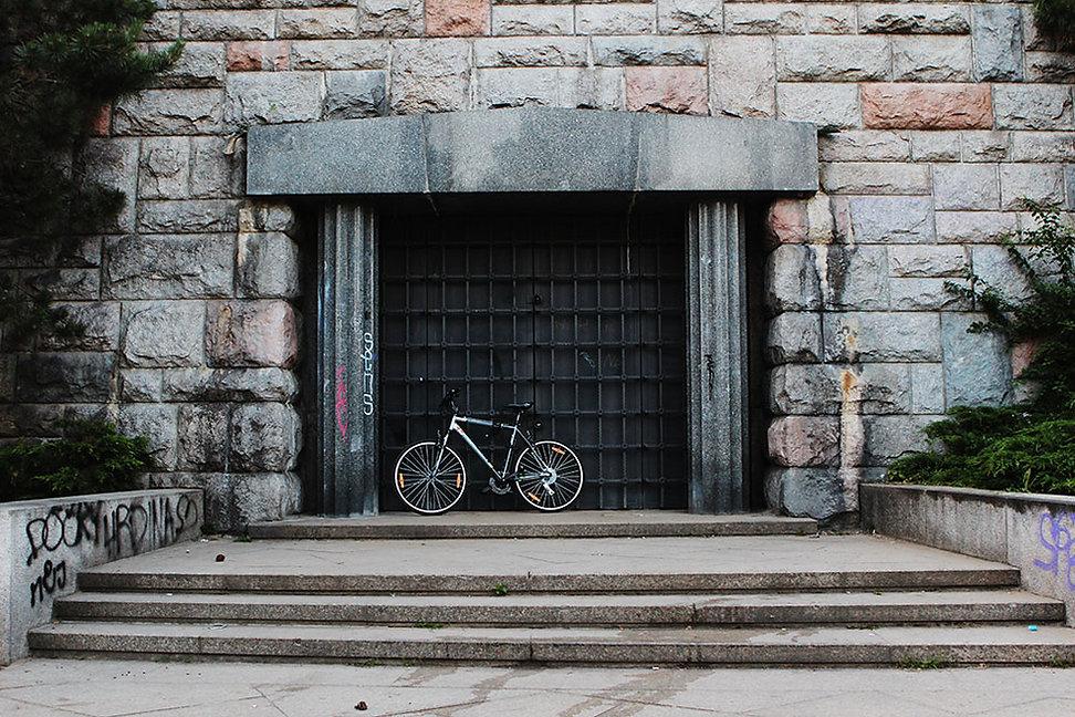 a bike in prague