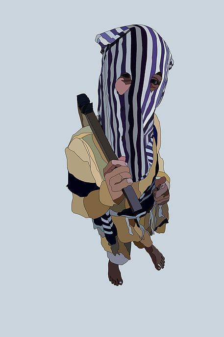 kid from Brasil Novo, located in Pará Xingu forest. Emy Sato illustration @ilustreemy