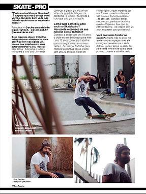 Marcos Noveline na revista de skate Deccs magazine