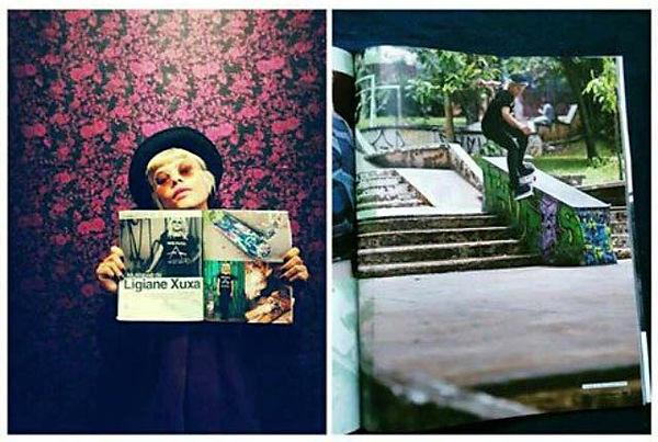 Photography to Cemporcento Skate Magazine with Ligiane Xuxa Emy Sato