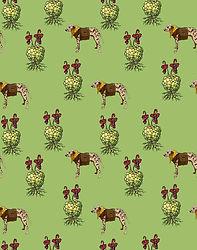 Dalmatia pattern emy sato illustration @ilustreemy dog illustrantion, dog wearin clothe illustration.