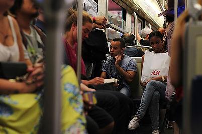 Metro in Paris rush hour