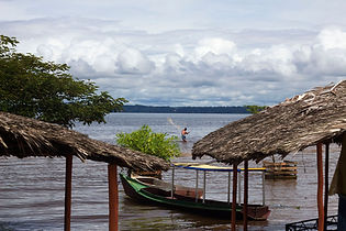 Man fishing in the Xingu river