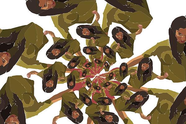 Girl dancing illustration. Emy Sato illustration @ilustreemy