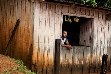 A man in a window in Pará, Xingu, Belo Monte