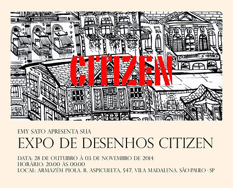 Citizen Exhibition in São Paulo.  Emy Sato Illustration. @ilustreemy