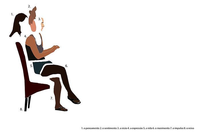 Puzzle woman illustration