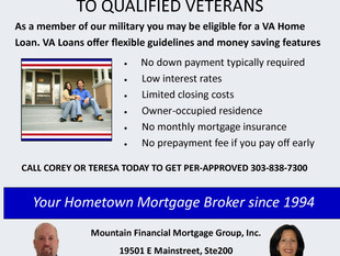 VA HOME LOANS - As a member of our military you may be eligible for a VA Home Loan. VA Loans offer f