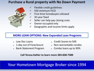 USDA Rural 100% Financing Loan Program
