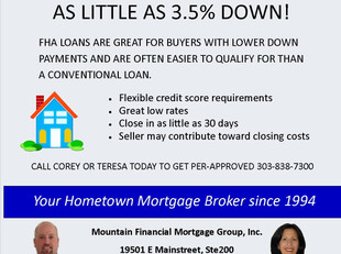 FHA Low Down Payment Loan
